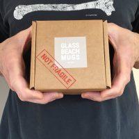 Glass Beach Mugs packaging