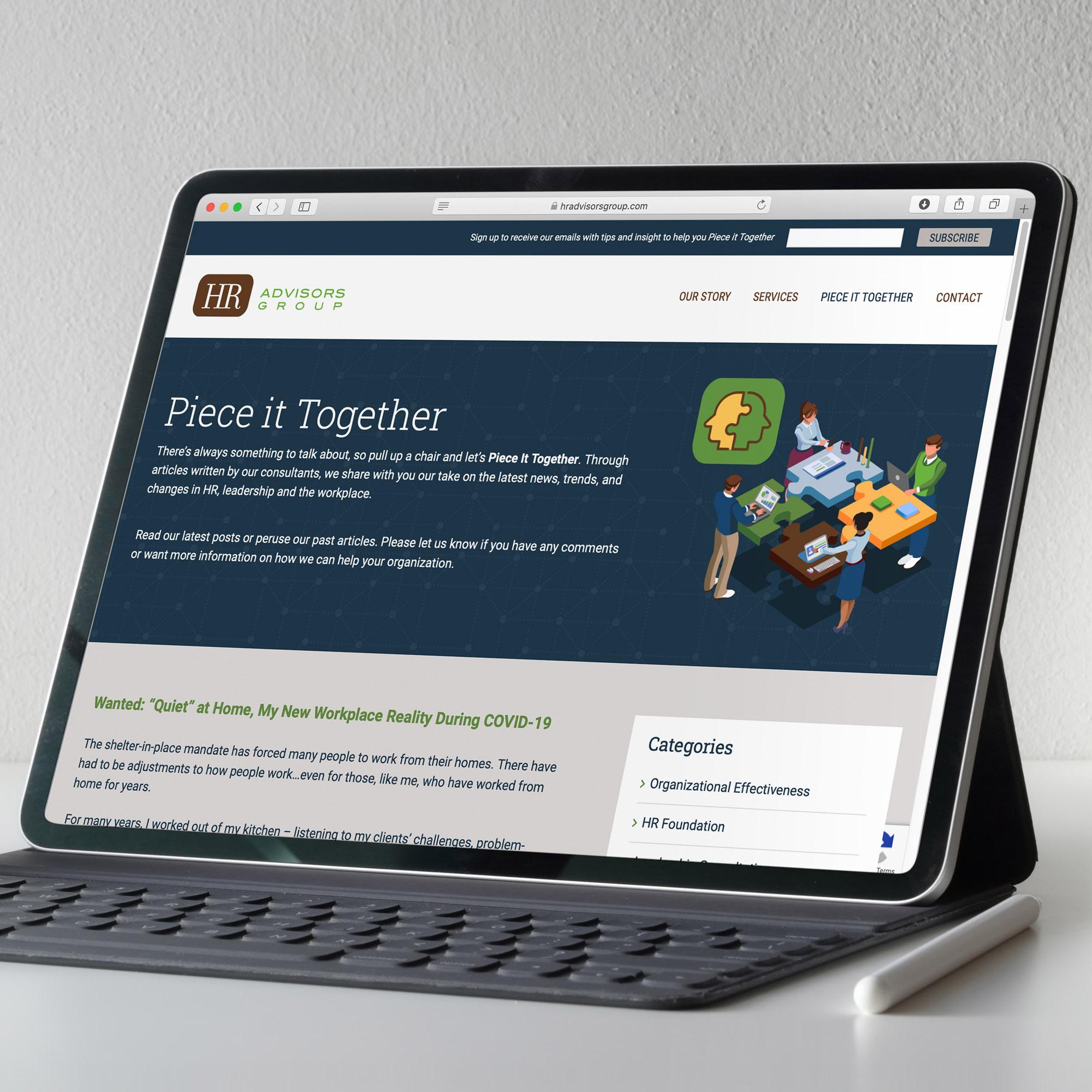 HR Advisors Group website