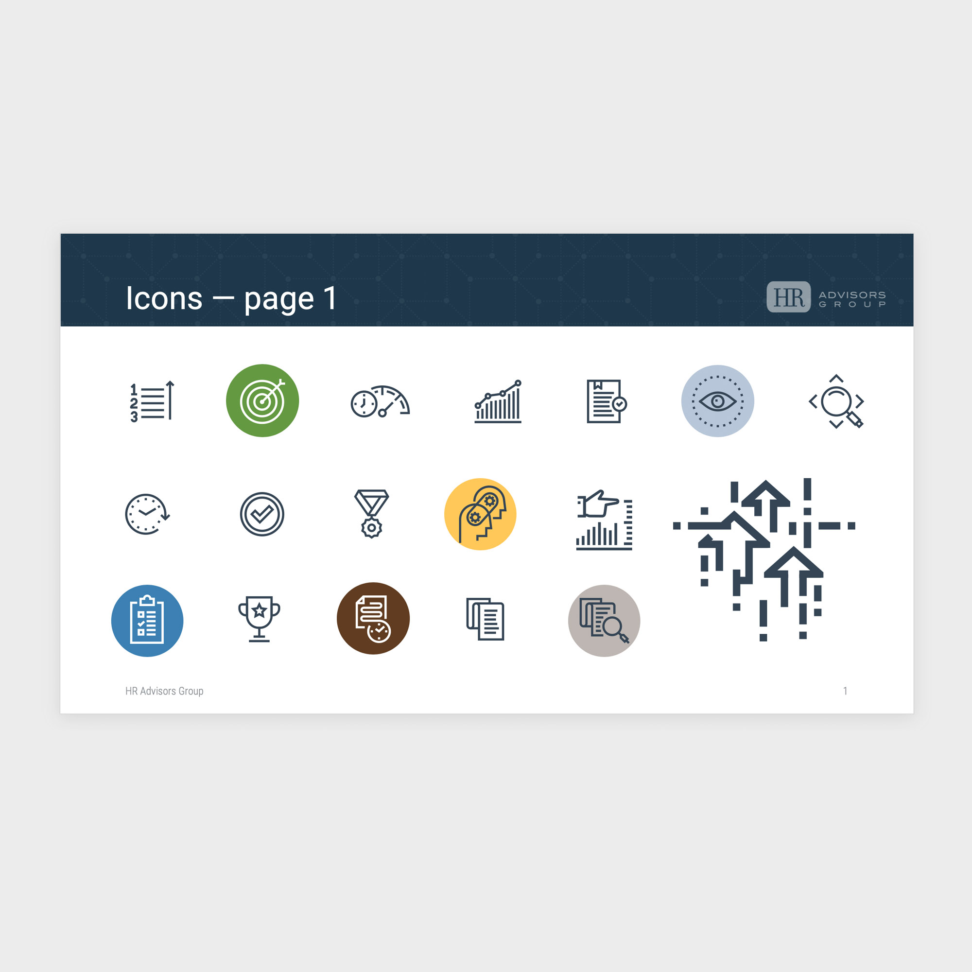 HR Advisors Group icon library