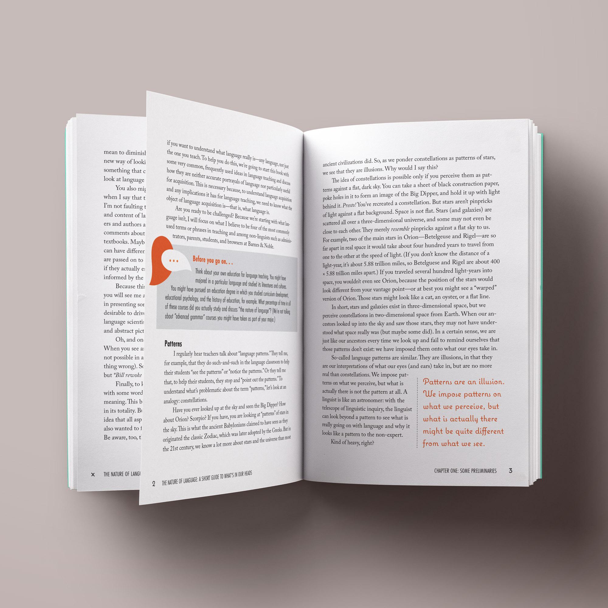 ACTFL The Nature of Language interior page design